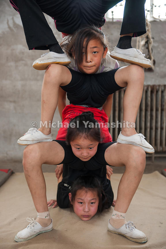 Wuqiao Zhi Jiao Acrobatic School. Wuqiao is most famous town for acrobats in China, sent it's performers up and down the GC t...