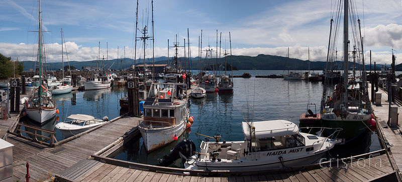 Queen Charlotte village harbour, Haida Gwaii