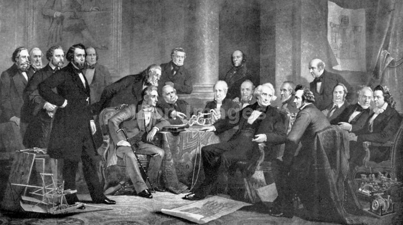Cyrus Hall McCormick with other inventors