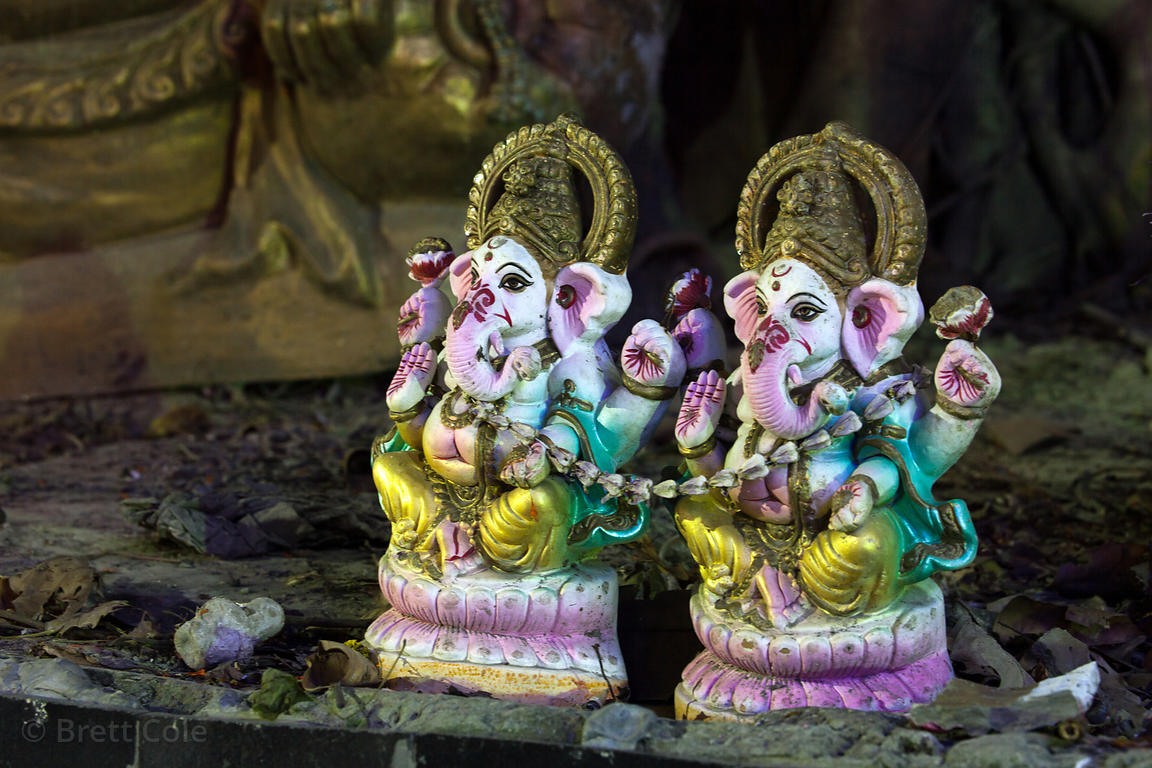 Ganesh idol at Princep Ghat, Kolkata, India.