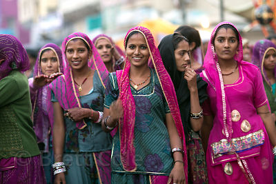 A group of ladies on pilgrimage to Pushkar, Rajasthan, India