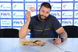 Stojanche Stoilov of Vardar during the Final Tournament - Media Meeting - Final Four - SEHA - Gazprom league, Skopje, 14.04.2...