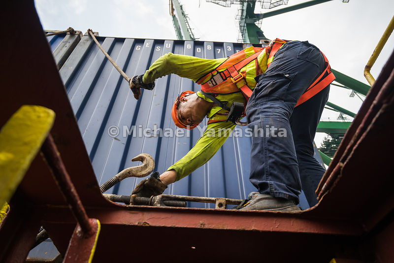 on board m.v. APL Iolite, container ship at PSA port at Tanjong Pagar