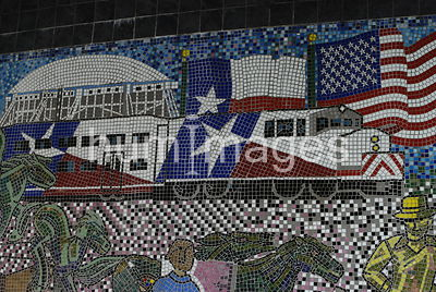 Mosaic art at Irving Arts Center Irving, TX