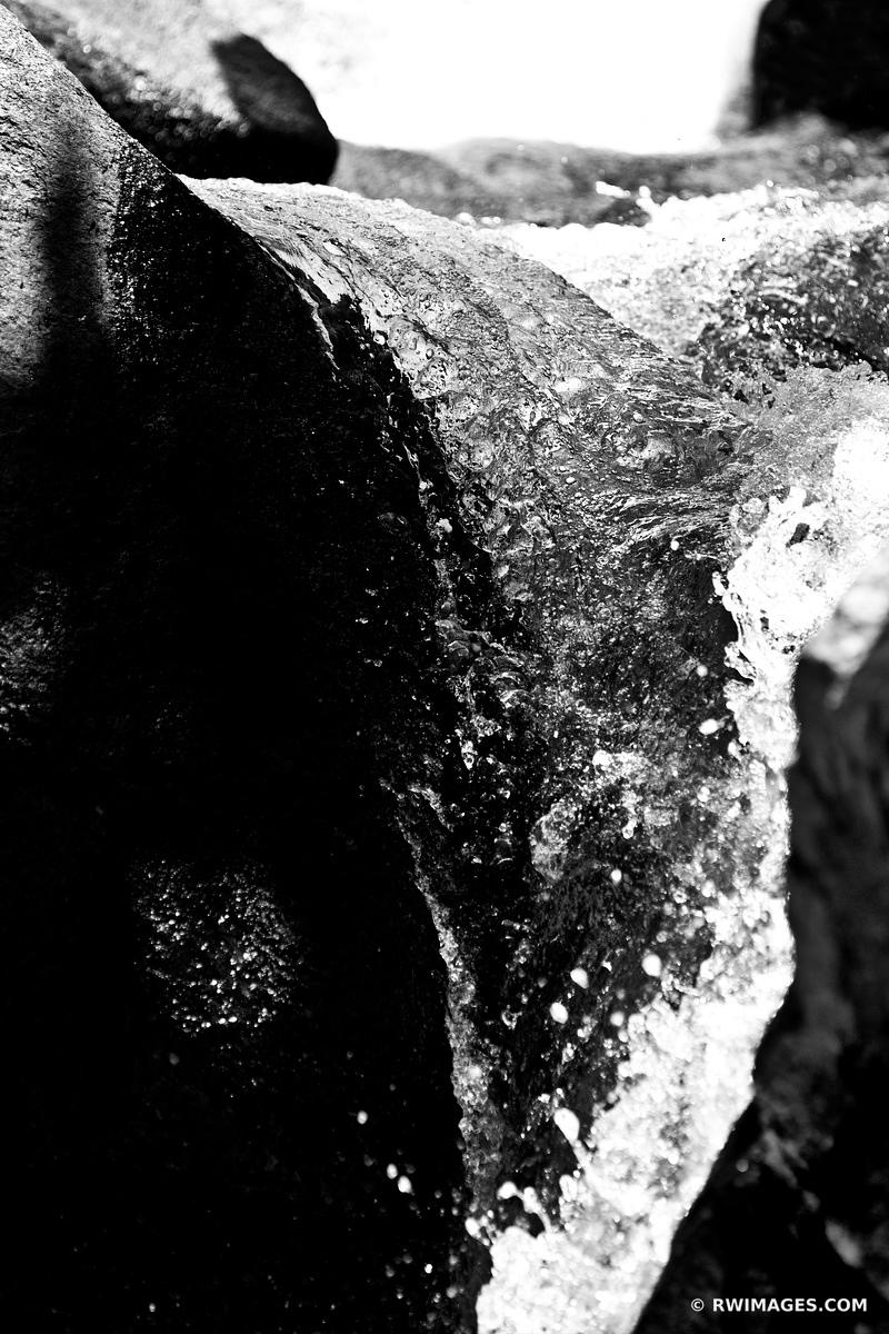ALBERTA FALLS ROCKY MOUNTAIN NATIONAL PARK COLORADO BLACK AND WHITE