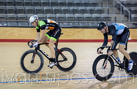 Master B Men Sprint 1/2 Final. Ontario Track Provincial Championships, March 5, 2016