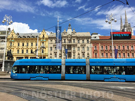 "It's difficult to ""capture"" the square, without one of the 190 trams constantly in use comes across - Ban Jelačić Square (Trg..."