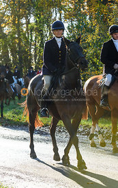 Justine Smiley-Jones near Woolsthorpe. The Belvoir Hunt at the Kennels 13/11