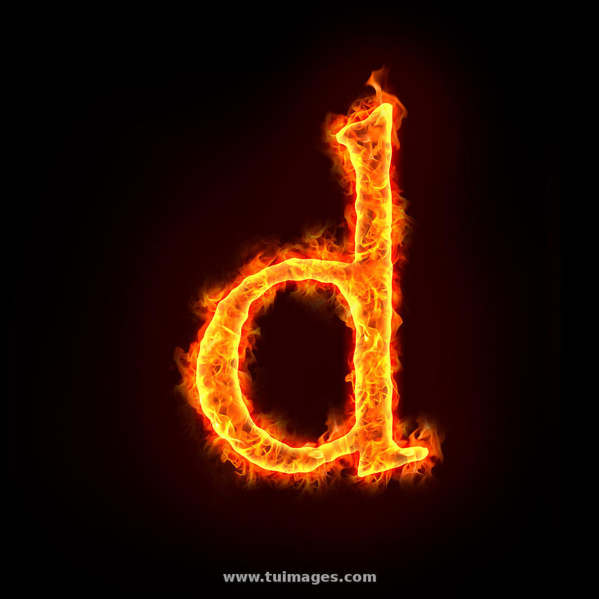 Stock Images Fire Alphabets, Small Letter D Stock Photos