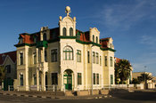 building in Swakopmund, an example of old  German architecture, Namibia
