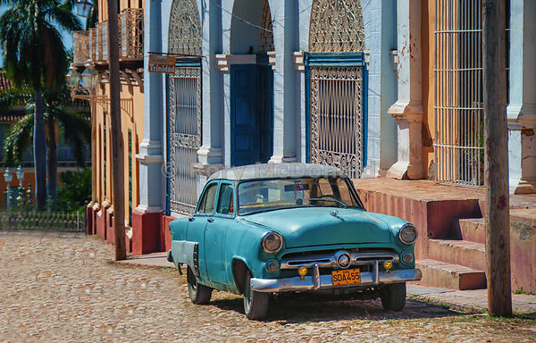 Parked Car in Trinidad, Cuba