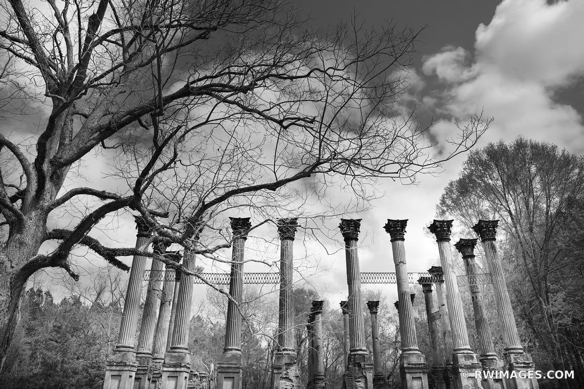 Framed photo print of windsor ruins mississippi black and white print picture image fine art photography large framed print wall decor art for sale stock
