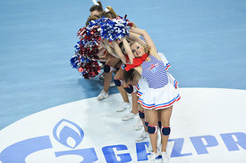 cheerleaders  during the Final Tournament - Final Four - SEHA - Gazprom league, third place match, Varazdin, Croatia, 03.04.2...