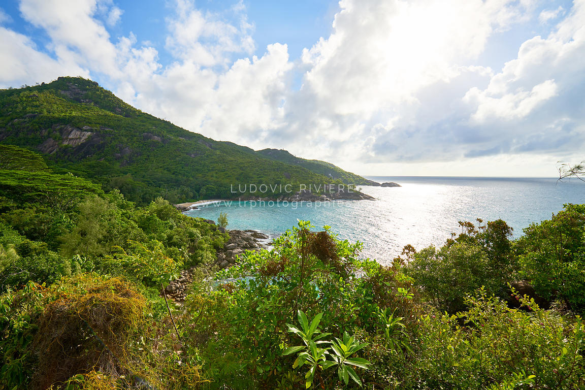 Anse major trail, hiking on nature trail of Mahe, Seychelles
