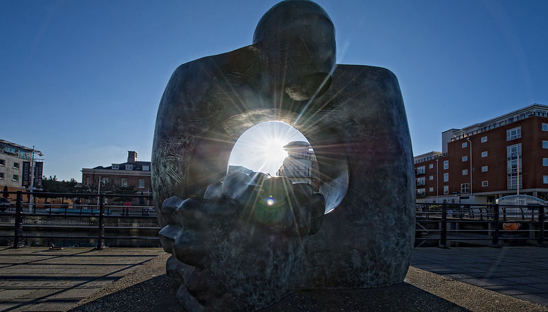 Sun Through Sculpture 1 at Gunwharf Quays, Portsmouth