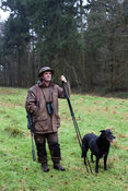 UK - Berkshire - Chef and restauranteur Mike Robinson deer hunting near his pub and restaurant, the Potkiln