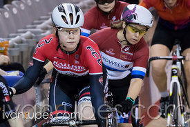 Cat 2/ U17 Women Scratch Race. 2016/2017 Track O-Cup #3/Eastern Track Challenge, Mattamy National Cycling Centre, Milton, On, February 12, 2017