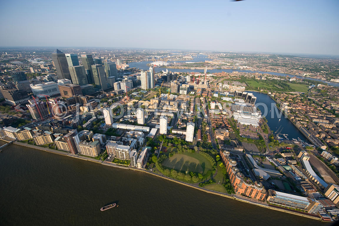 Isle of Dogs and Canary Wharf, London