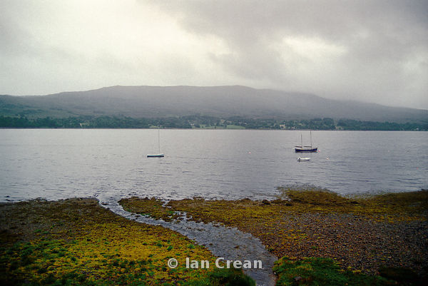 Scottish loch on a grey day