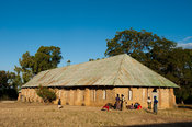Stone mission church at the site of 19th century slave market, Nkhotakota, Malawi