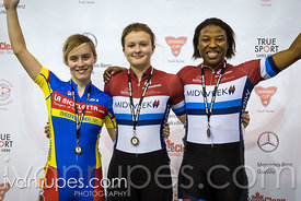 Women Keirin Podium, 2017/2018 Track Ontario Cup #1, Mattamy National Cycling Centre, Milton On, December 10, 2017