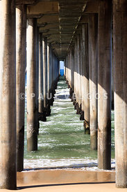 Under the Pier in Orange County California
