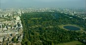 London Aerial Footage of Bayswater and Hyde Park.