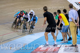 Women's Keirin 2nd Round. Track Cycling World Cup Milton, October 28, 2018