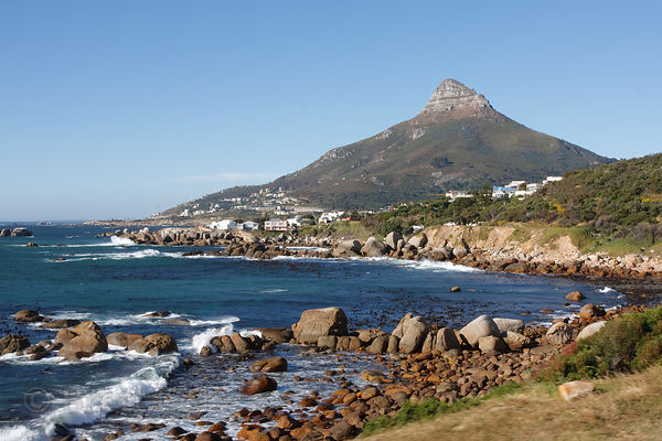 Beautiful coastline near Seapoint, Cape Town, South Africa