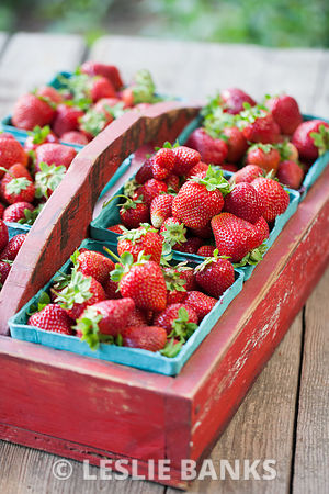 Vintage Crate of Strawberries