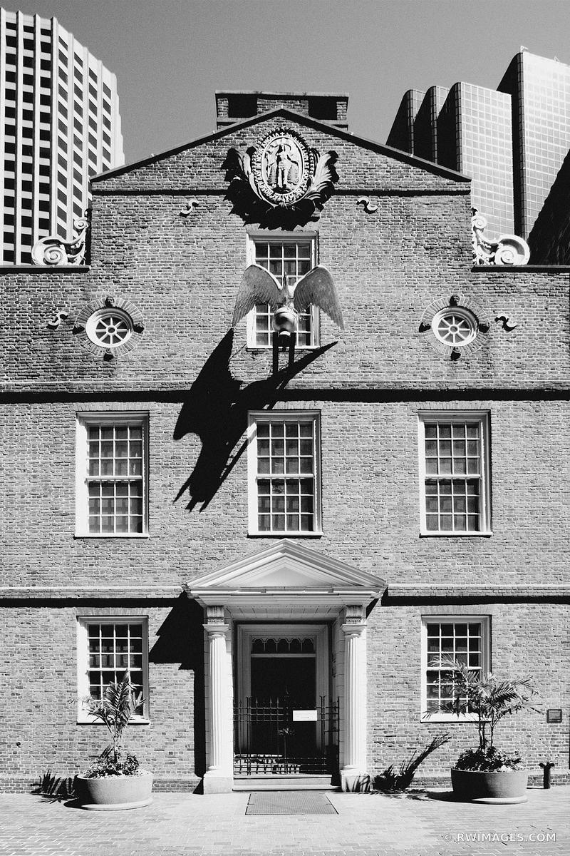 DOWNTOWN BOSTON ARCHITECTURE BLACK AND WHITE VERTICAL