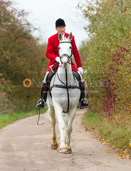 Nicholas Leeming on Newbold Road. The Cottesmore Hunt at Somerby