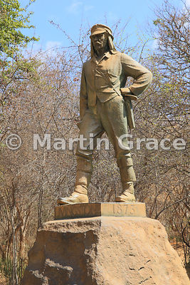 Statue of David Livingstone in Victoria Falls National Park, Zimbabwe