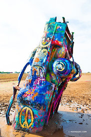 CADILLAC RANCH AMARILLO TEXAS ROUTE 66 COLOR VERTICAL