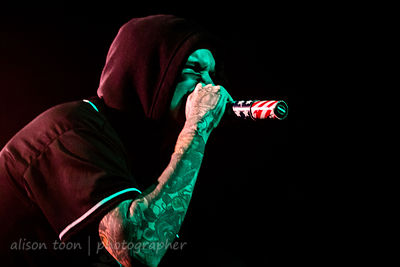 Chris Fronzak, vocals, Attila, Ace of Spades, Sacramento