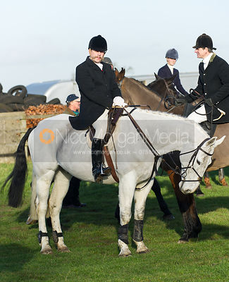 Followers at the meet - The Belvoir Hunt at Long Clawson, 15/12/12