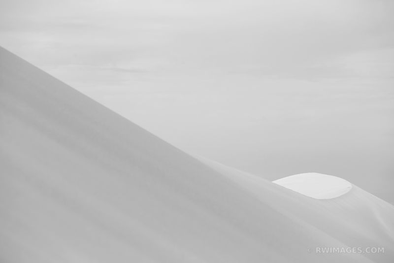 NATURE ABSTRACT GREAT SAND DUNES NATIONAL PARK COLORADO BLACK AND WHITE HORIZONTAL