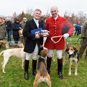 The Cottesmore Hunt at Burrough House 18/12