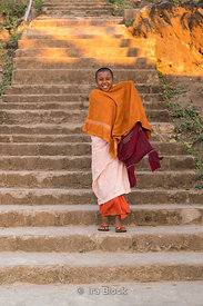 A novice nun at Htet Evian Cave Monastic Education School near Nyaungshwe, Myanmar.