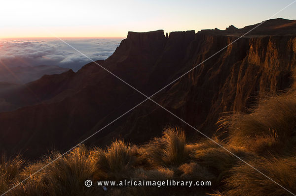 Eastern Buttress, Devil's Tooth and Inner Tower, Drakensberg Mountain, South Africa