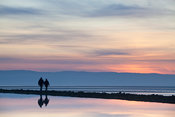 West Kirby marine lake at sunset