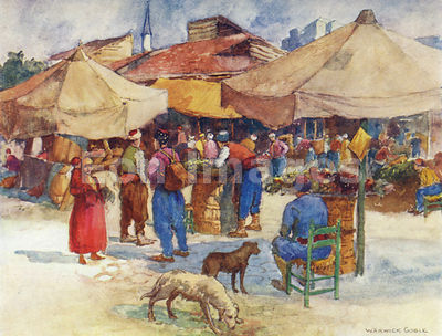 Market at Scutari by Warwick Goble