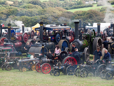 steam engines gathered