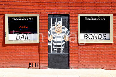 Bail Bonds Store and Open Sign