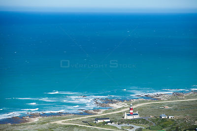 Aerial view of Cape Agulhas, Southern Cape, South Africa, August 2009