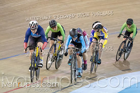 Junior Women Keirin 1-6 Final. Ontario Track Championships, March 3, 2019
