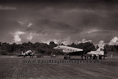 Two from Cambodia | C-47s 42-108865 and 44-76734 | RAF Changi August 1962