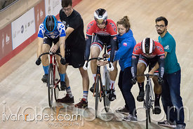 Junior Men Keirin 1-6 Final. 2016/2017 Track O-Cup #1, Mattamy National Cycling Centre, Milton, On, December 4, 2016