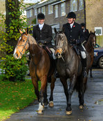 Howard Clark and Nick Townsend - The Cottesmore Hunt at Braunston, 12-11-13.