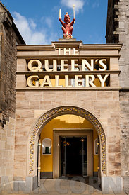 Entrance to Queen's Gallery Edinburgh